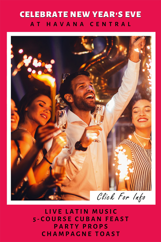 Celebrate New Year's Eve at Havana Central